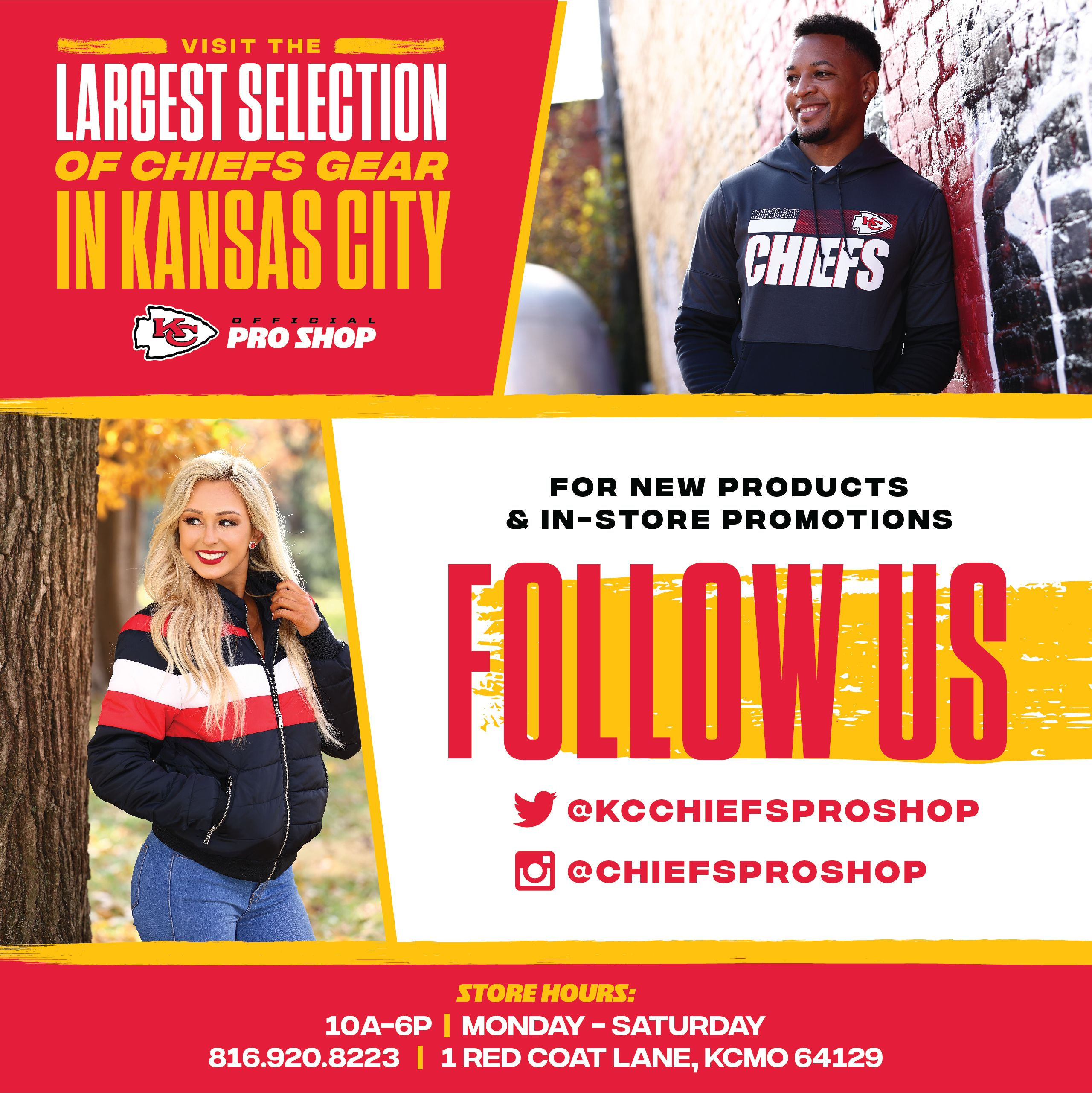 Click here to view Chiefs Pro Shop Twitter account.