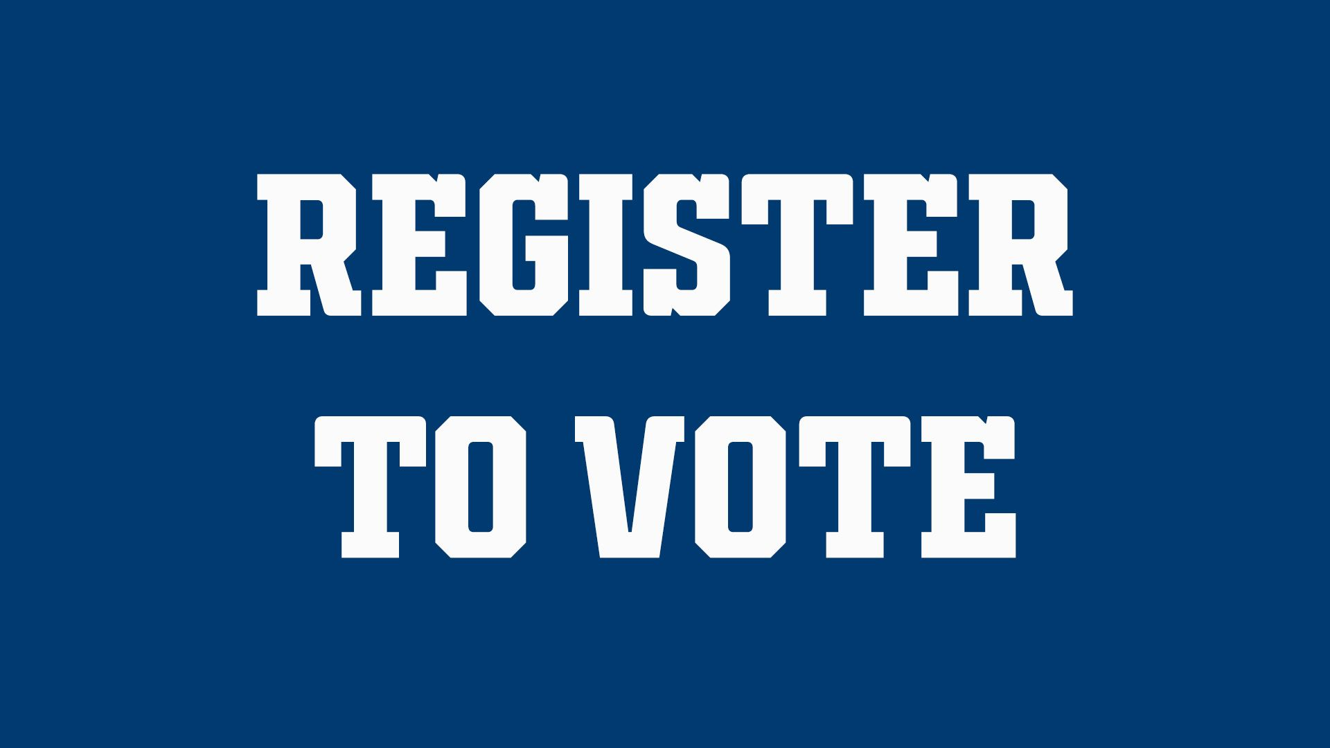 Indianapolis Colts For The Future: Register To Vote