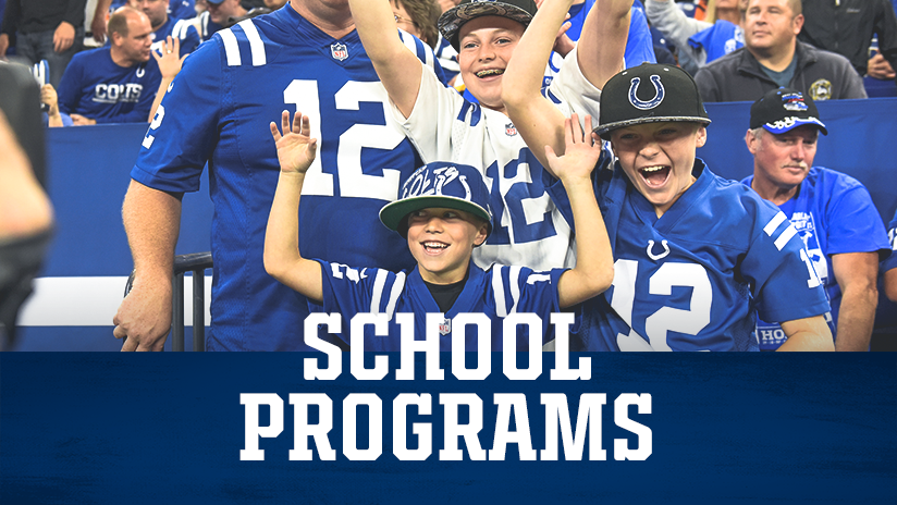 Indianapolis Colts Group Tickets School Programs Event