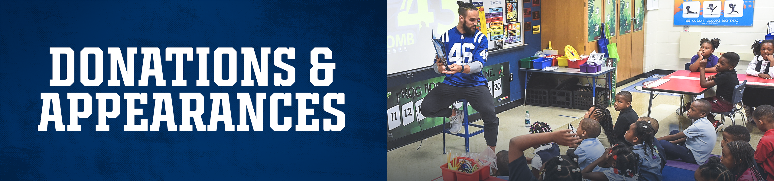 Indianapolis Colts Community Donations And Appearances