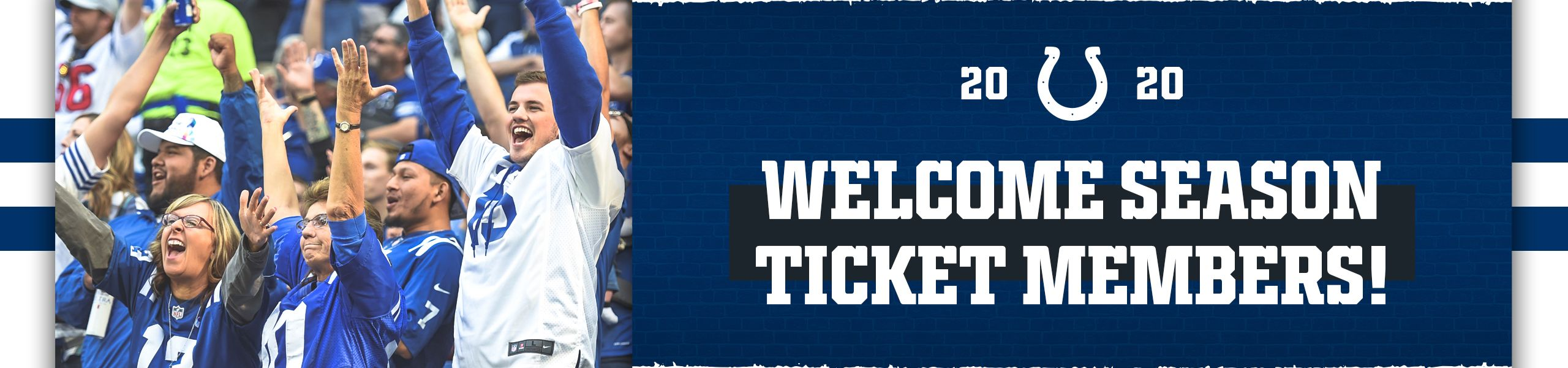2020 Indianapolis Colts  Welcomes Season Ticket Members