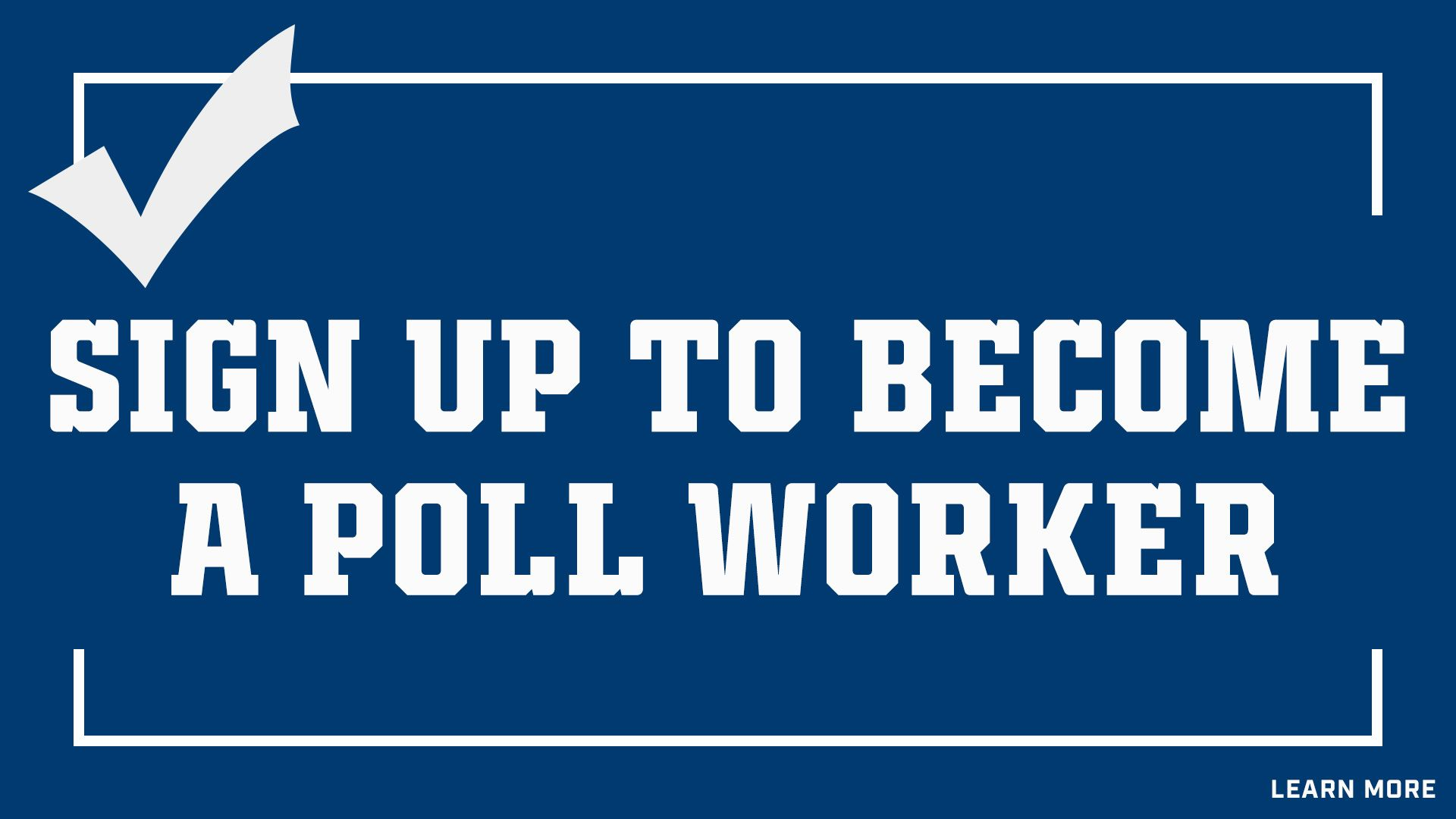 Indianapolis Colts For The Future: Sign Up To Become A Poll Worker. Learn More.
