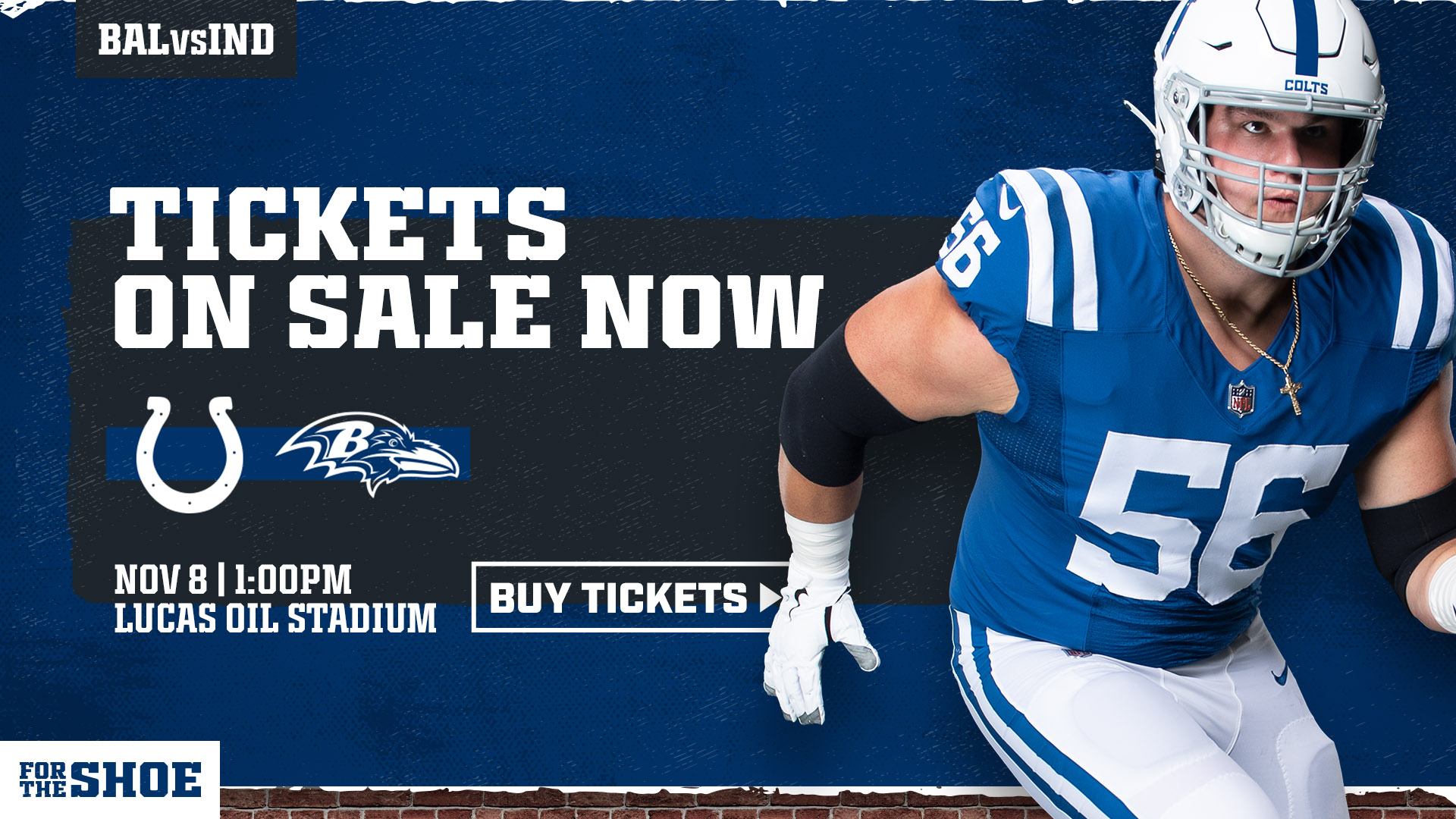 JOIN US AT LUCAS OIL STADIUM ON NOV. 8TH