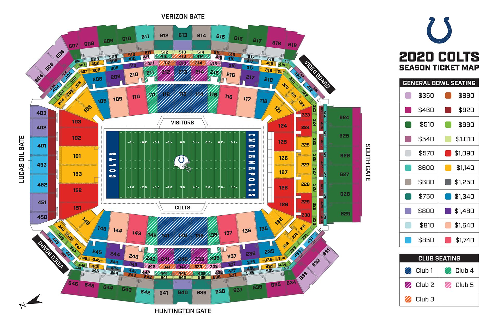 2020 Season Ticket Map