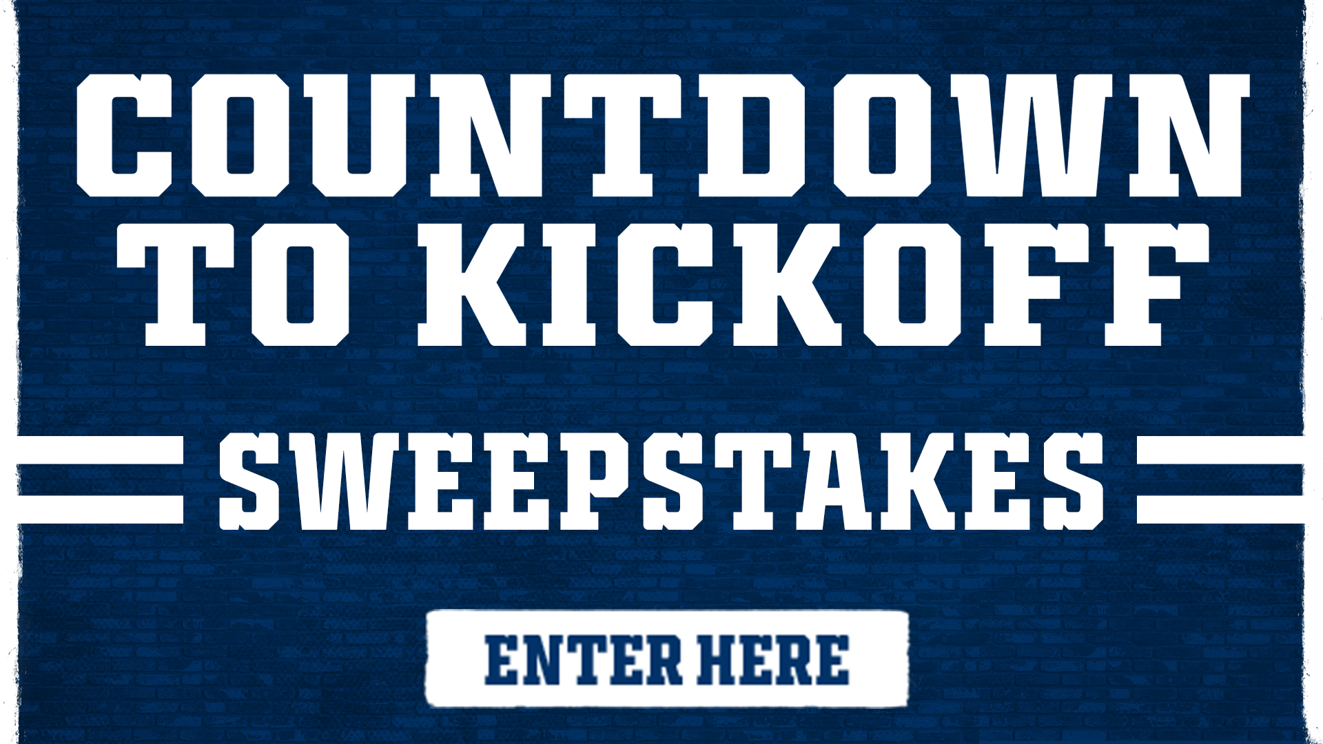 Countdown to Kickoff Sweepstakes