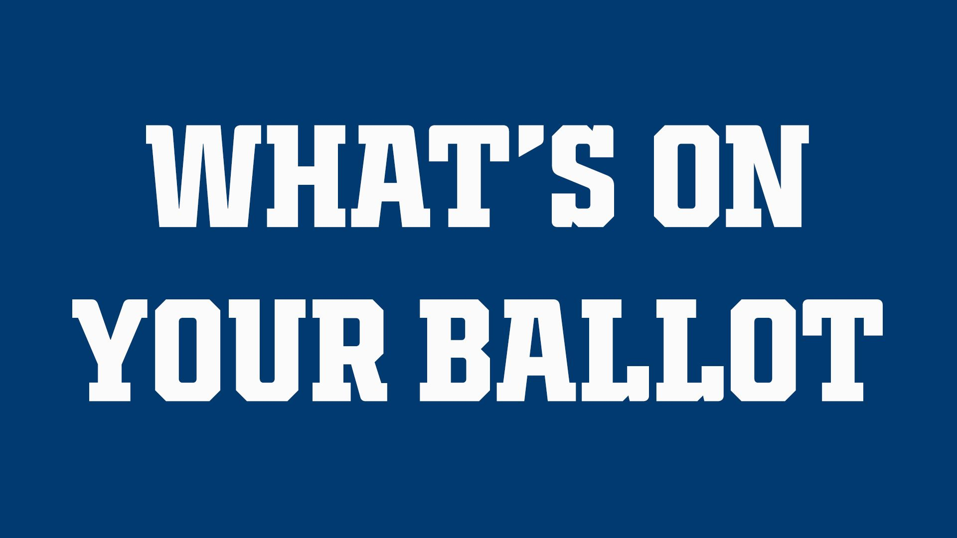 Indianapolis Colts For The Future: What's On Your Ballot