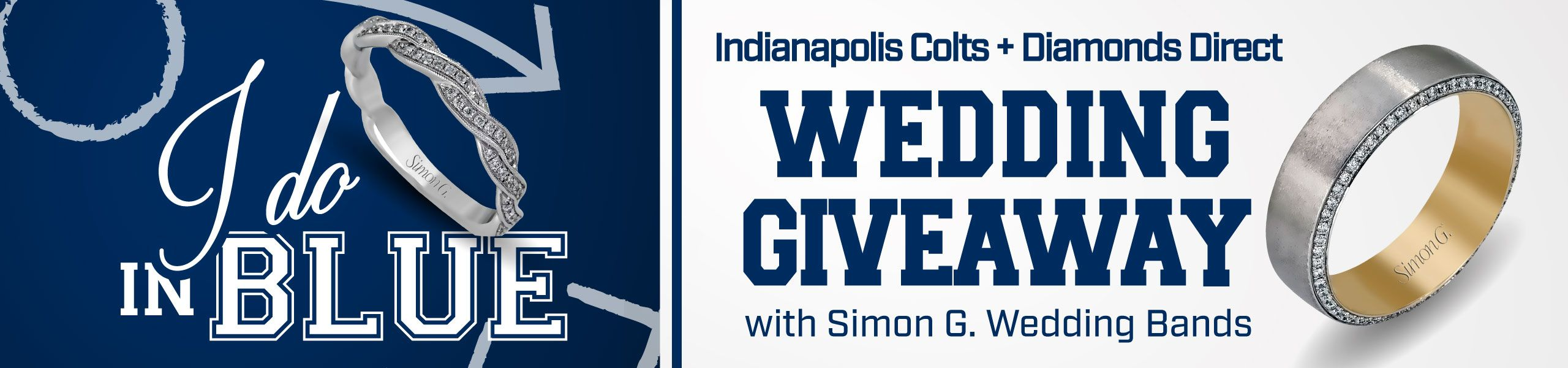 I Do In Blue  Indianapolis Colts + Diamonds Direct Wedding Giveaway with Simon G. Wedding Bands