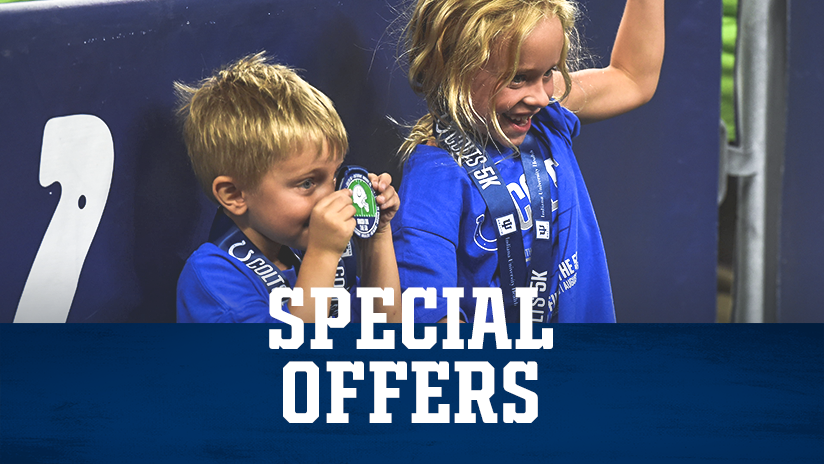 Indianapolis Colts Kids Club Special Offers