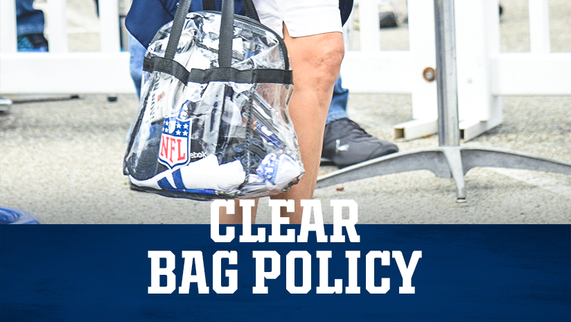 Indianapolis Colts Gameday Clear Bag Policy
