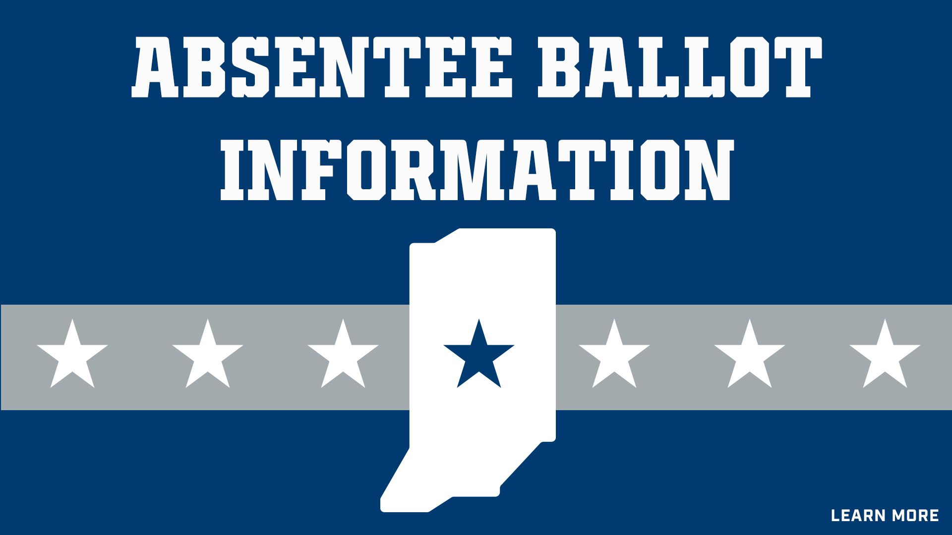 Indianapolis Colts For The Future: Absentee Ballot Information
