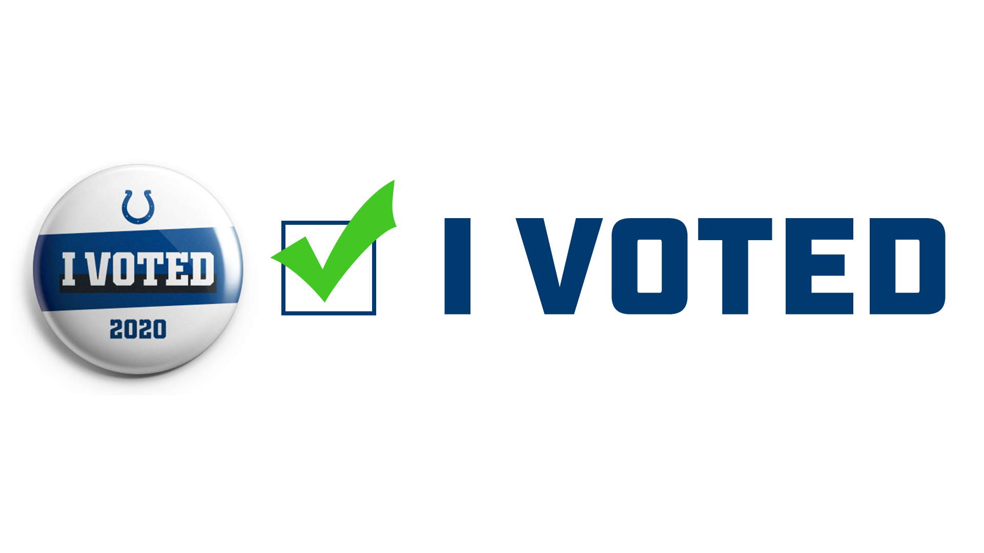 Indianapolis Colts For The Future: I Voted Button
