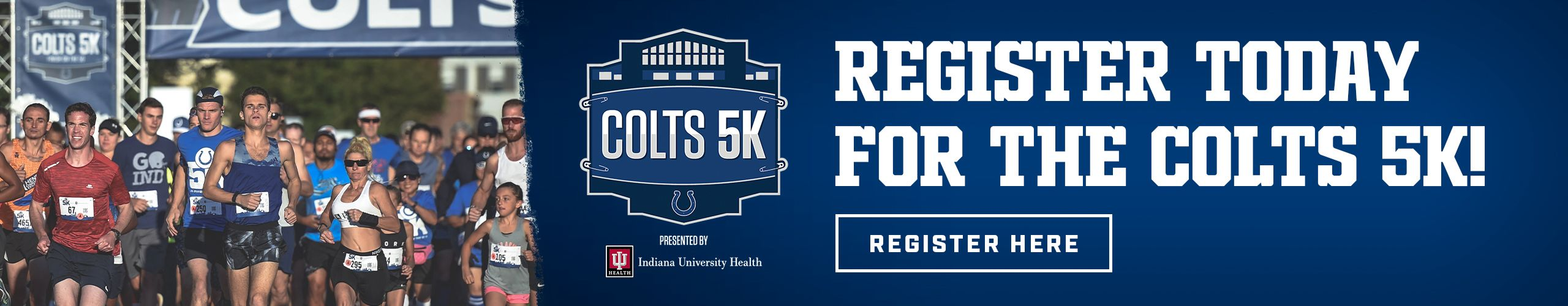 Colts 5K Presented By Indiana University Health  Register Today For The Colts 5K  Register Here