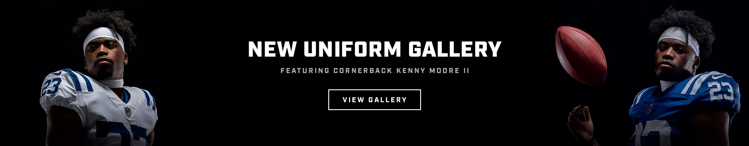 Click to view a gallery of the new uniform, featuring Kenny Moore II