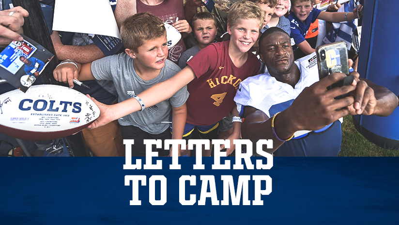 Indianapolis Colts Letters To Camp