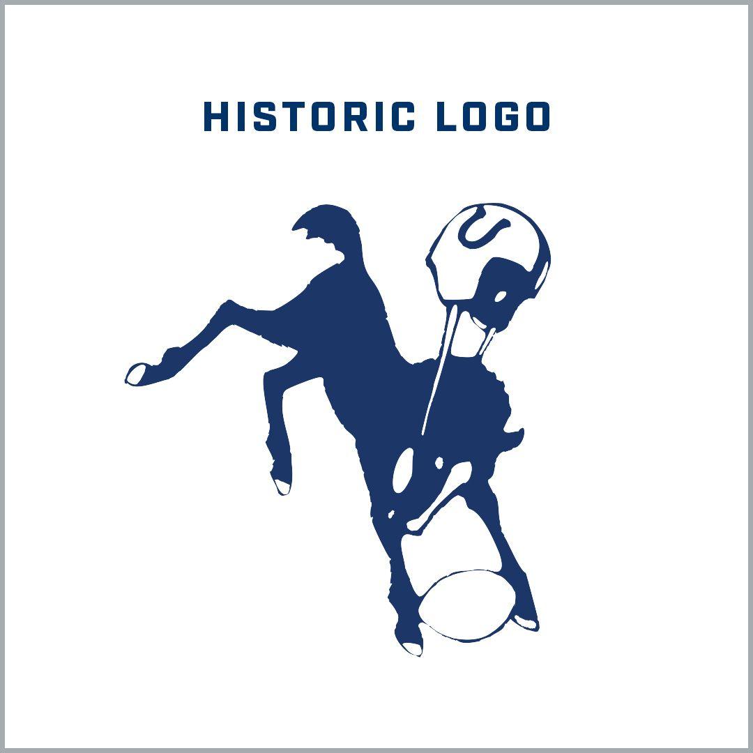 \[Image of historic, bucking horse logo\]