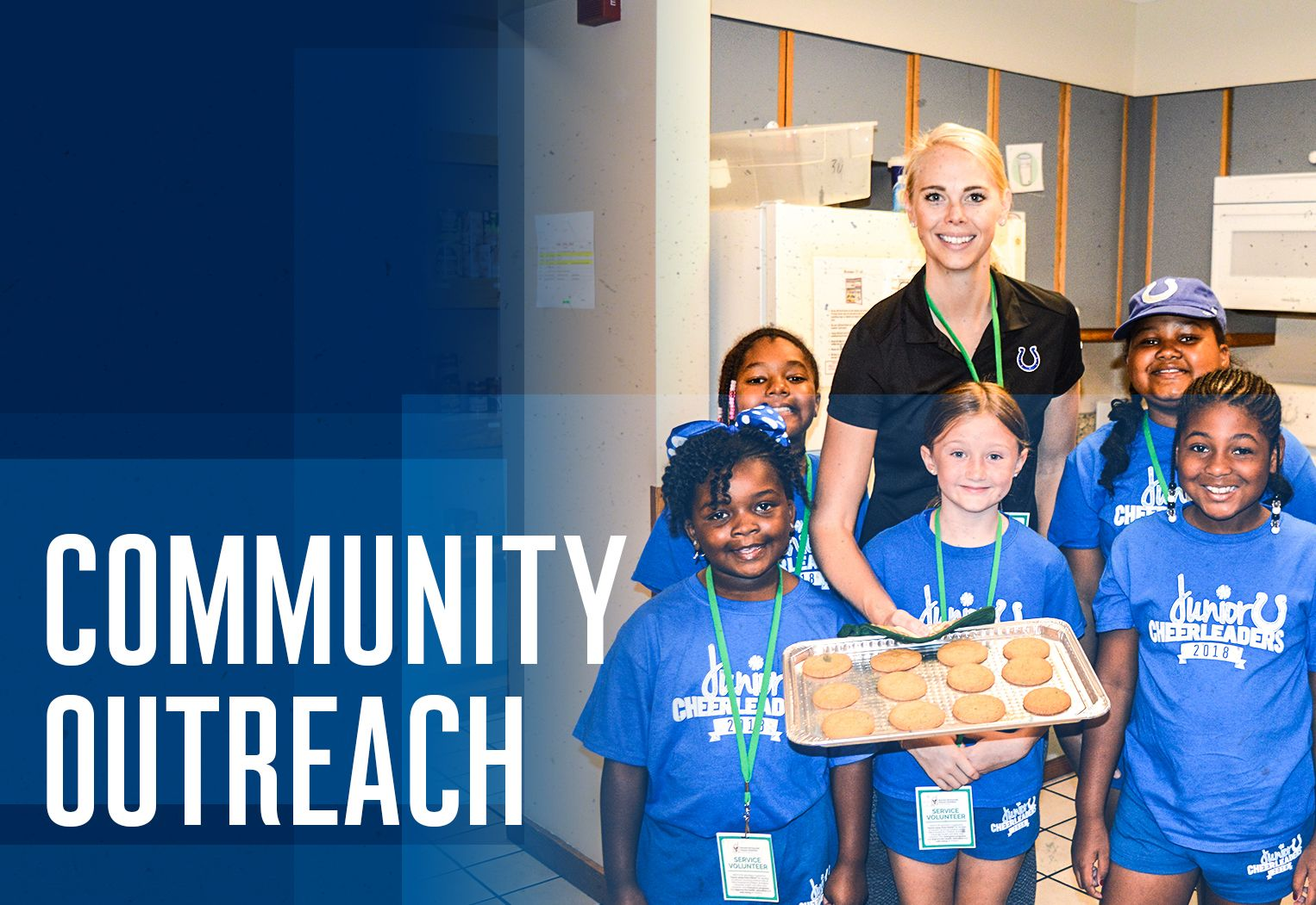 Colts Junior Cheer Community Outreach