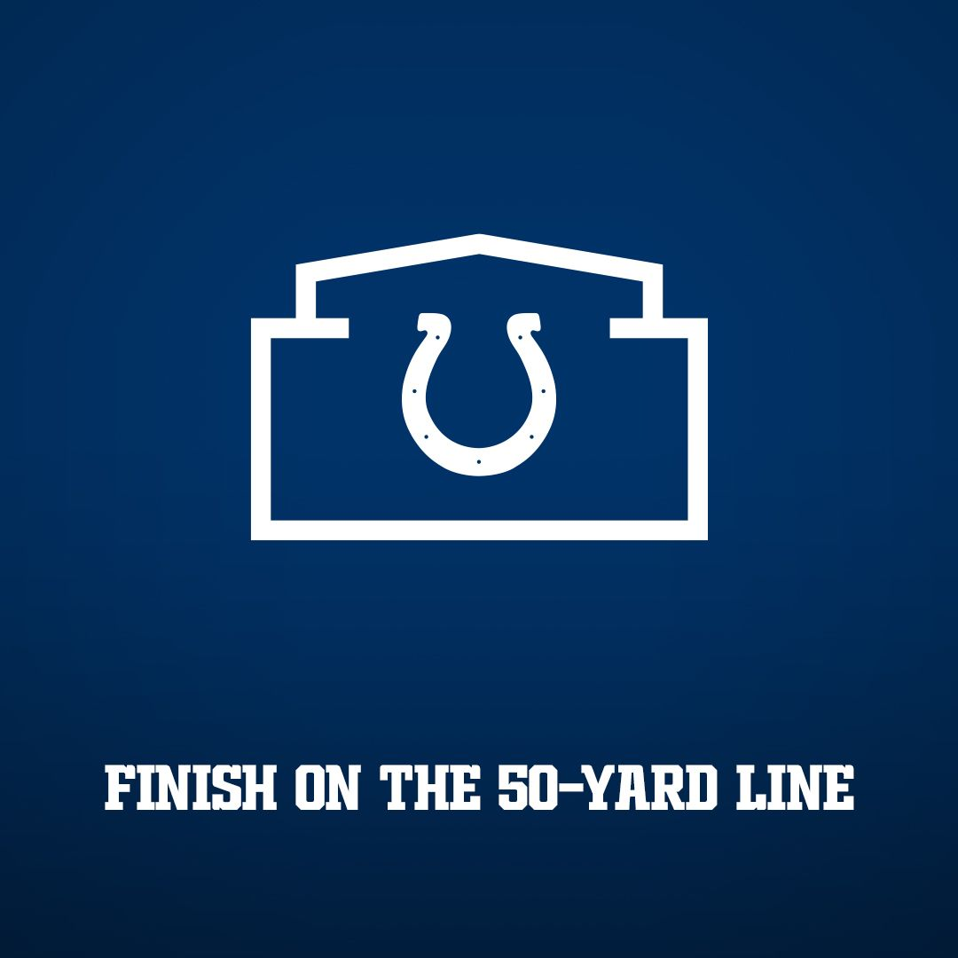 FINISH ON THE 50-YARD LINE