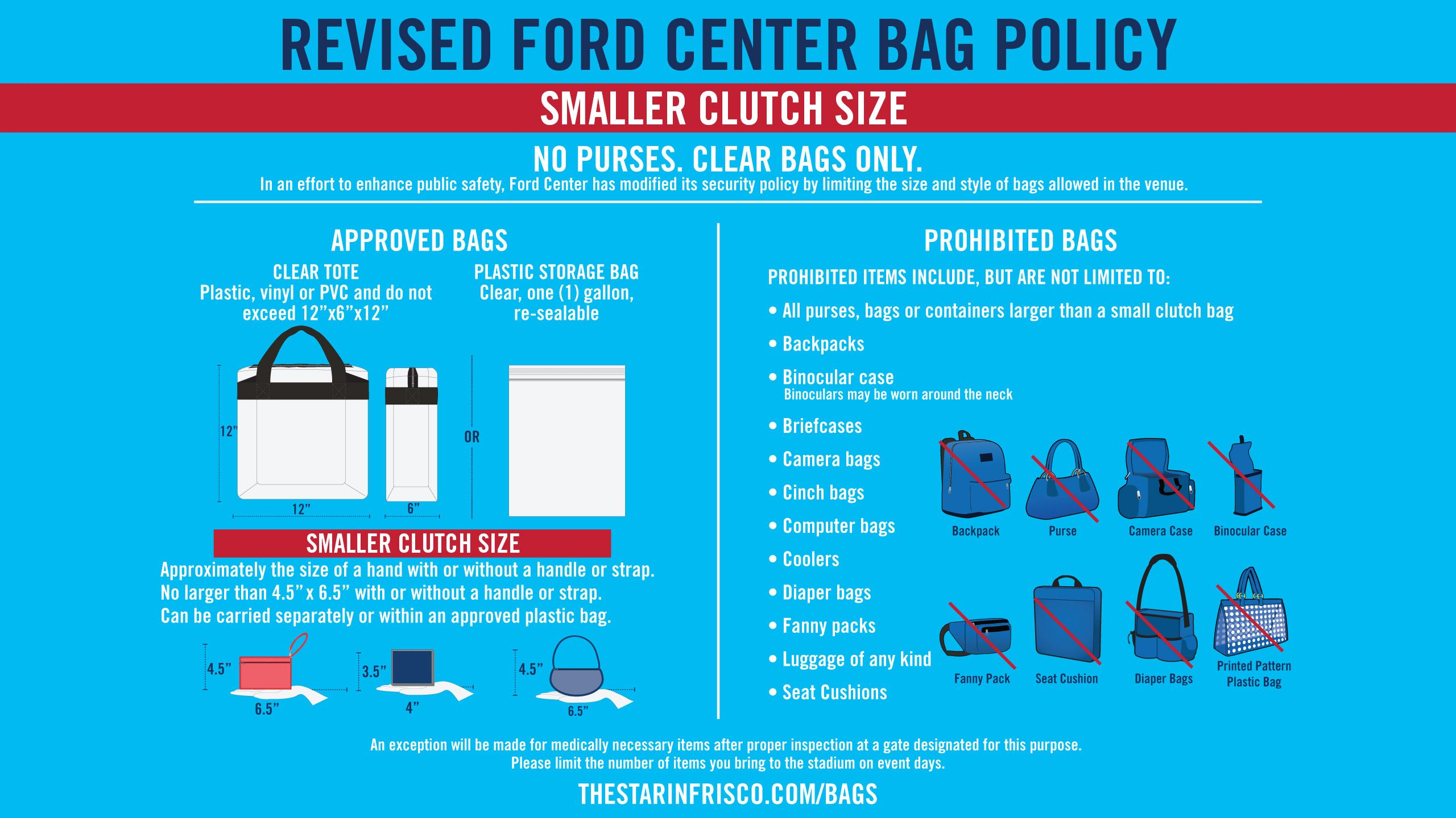Ford Center Bag Policy