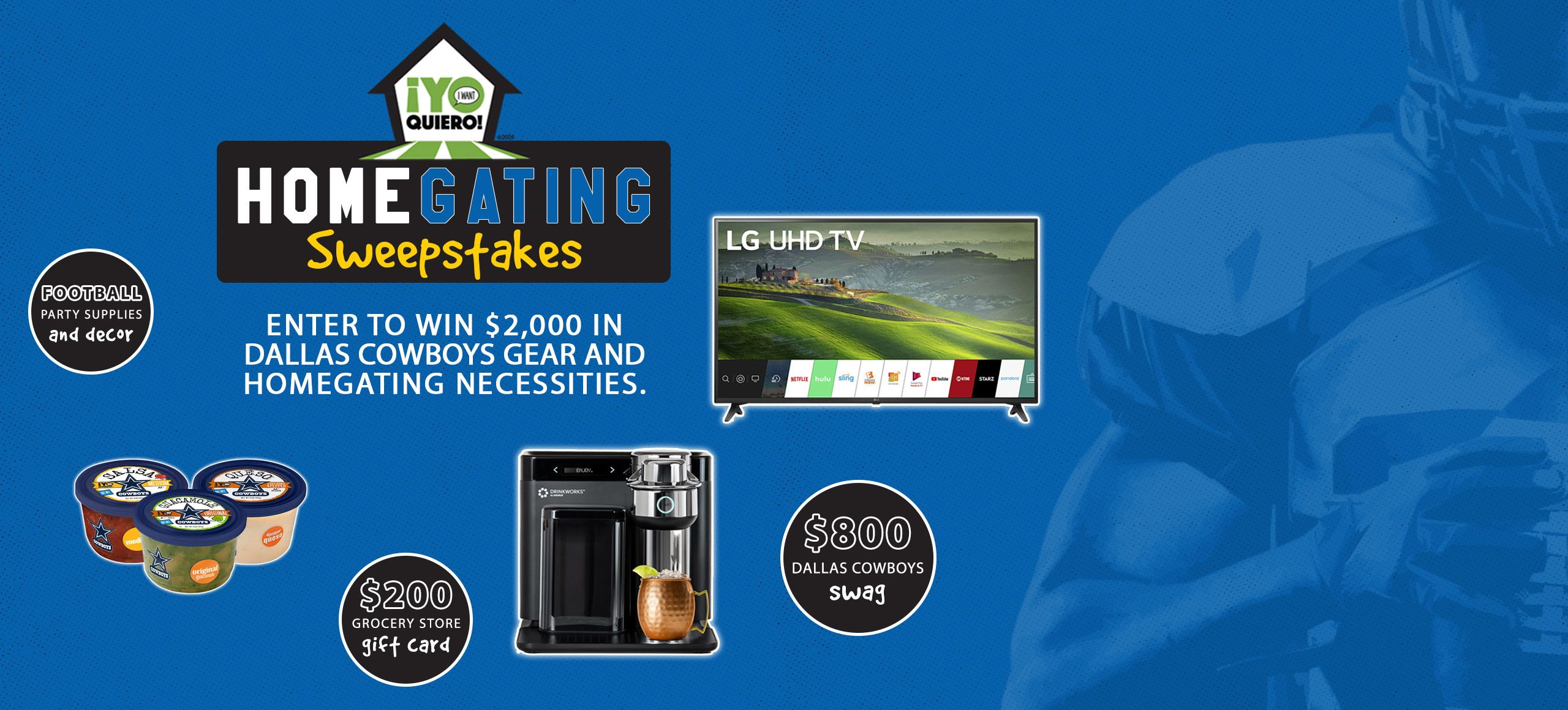 Win The Ultimate Homegating Party Pack