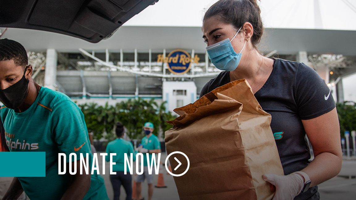 Graphic: Click Here To Donate Now To The Dolphins Foundation Meals Program