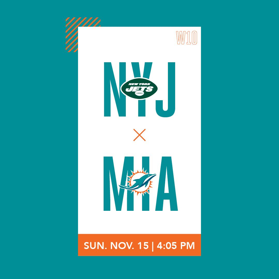 Graphic: Gameday Theater Week 10 - Jets at Dolphins