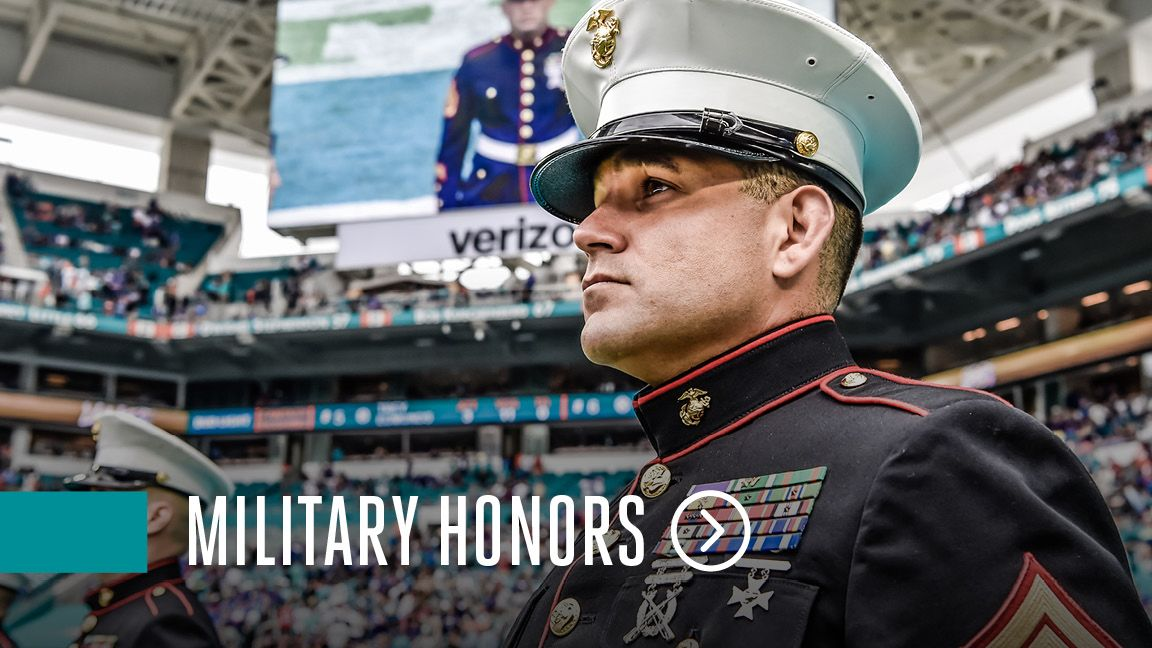 Graphic: Click To Access The Military Honors Landing Page