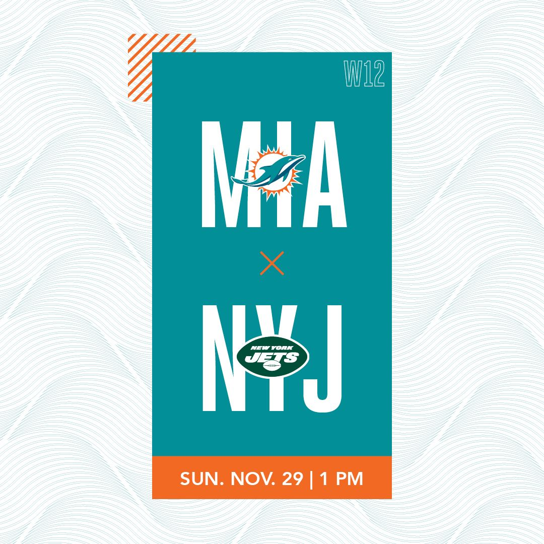 Graphic: Gameday Theater Week 12 - Dolphins at Jets