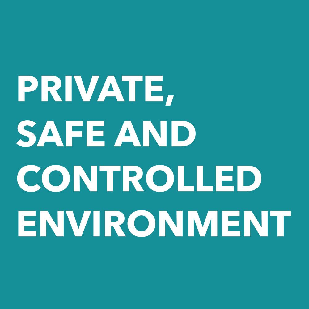 Graphic: Single Game Suites are Private, Safe and Controlled Environment