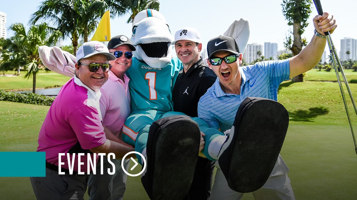 Graphic: Click To Learn About Miami Dolphins Foundation Events