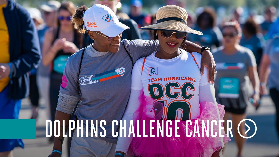 Dolphins Challenge Cancer website