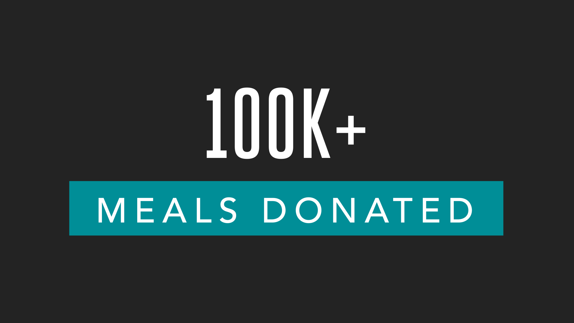 Graphic: 100k+ Meals Donated