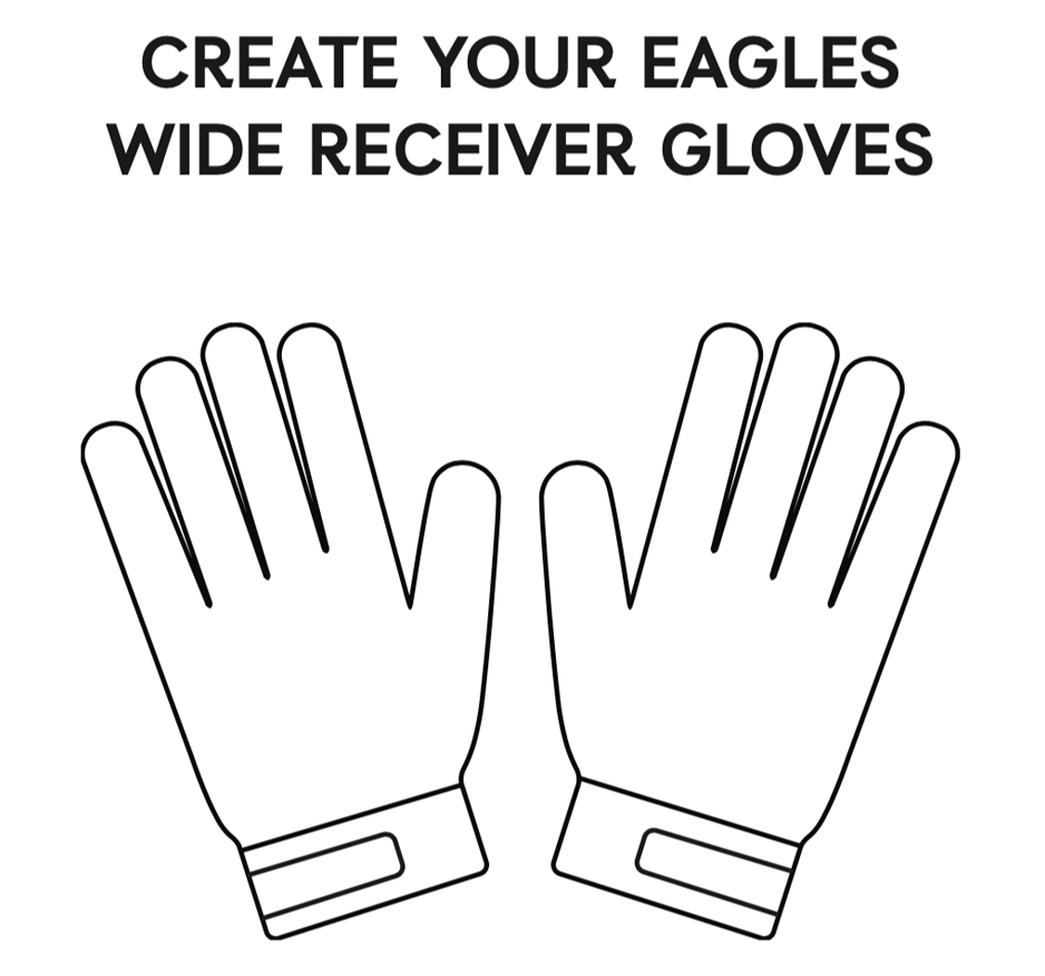 Create your own wide receiver gloves
