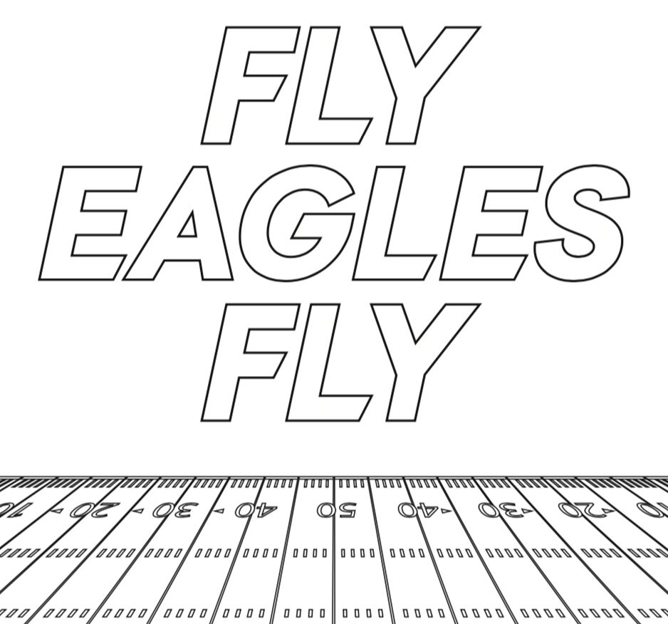 Fly Eagles Fly Coloring Page
