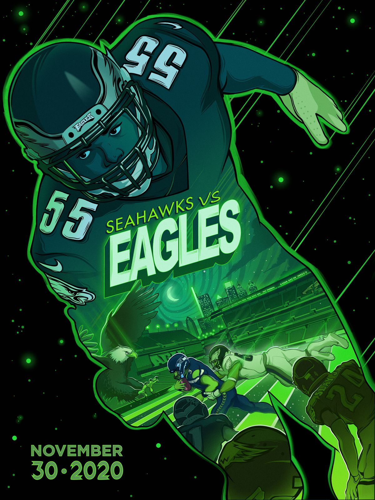 Week 12: Seahawks vs. Eagles