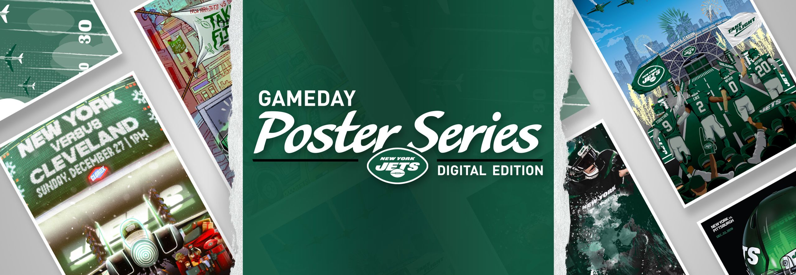 New York Jets Gameday Poster Series