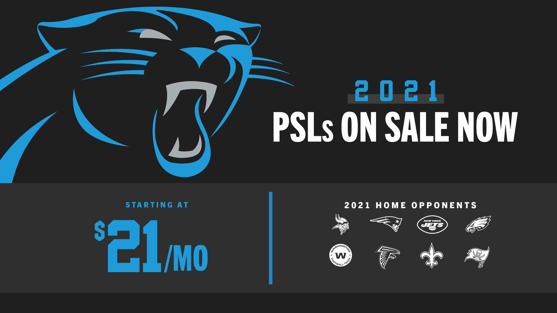 PSLs / Season Tickets starting at $21/month