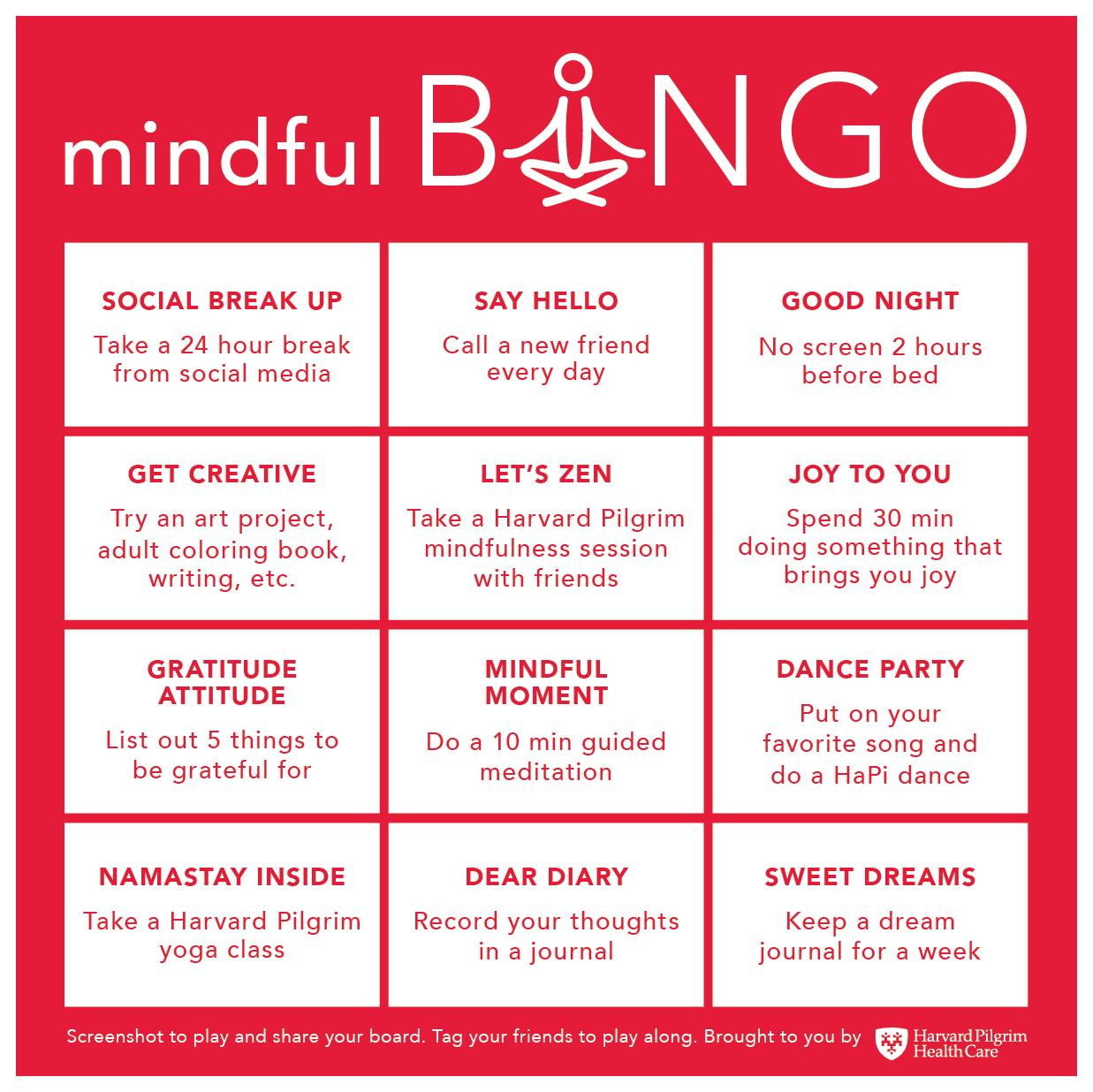 Mindful Bingo