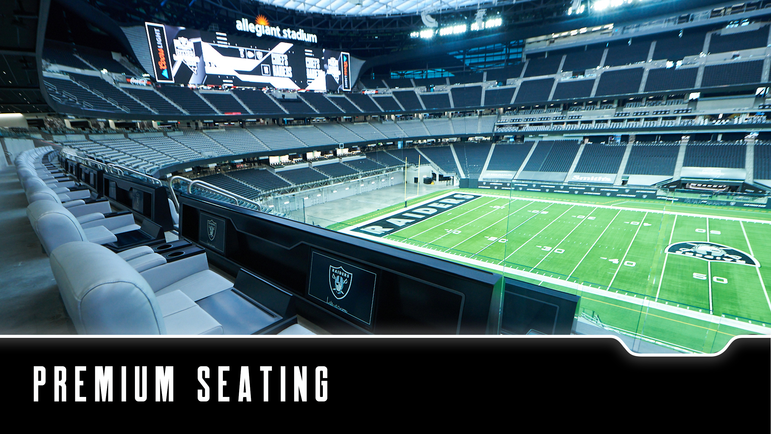 Learn more about Premium Seating at Allegiant Stadium