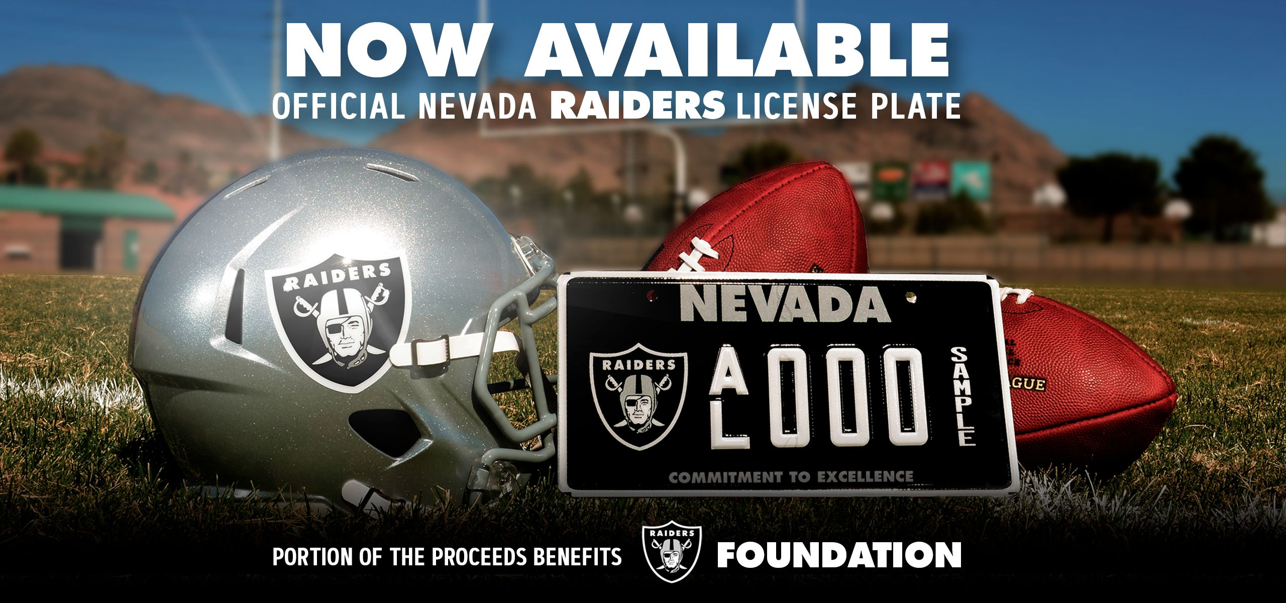 Coming soon official Raiders themed Nevada license plate