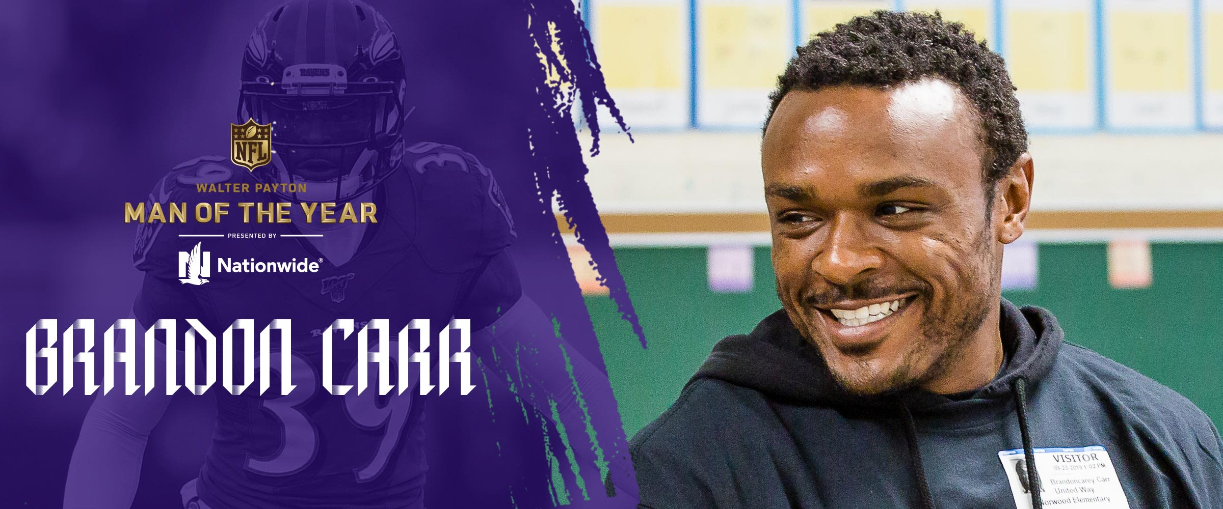 Walter Payton Man of the Year 2019: Brandon Carr