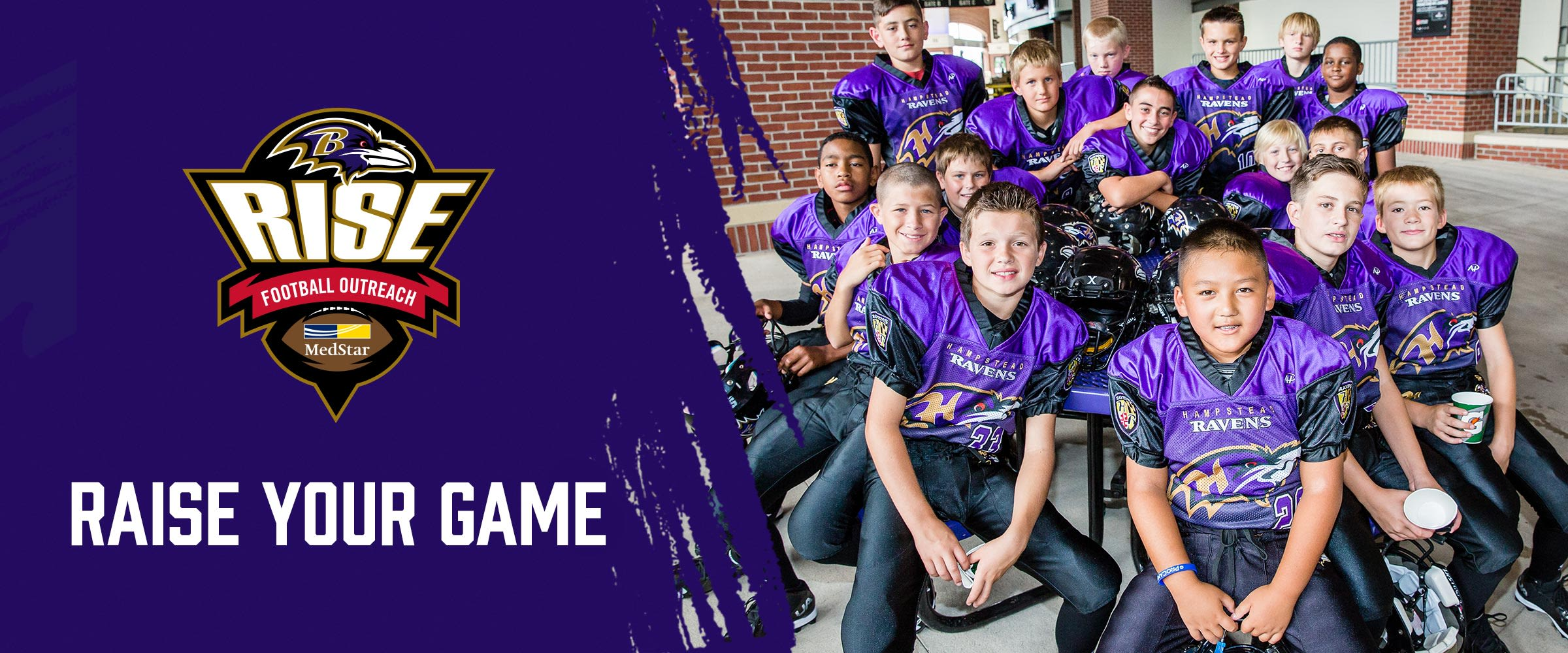 Ravens RISE Football Outreach presented by MedStar  Raise your Game