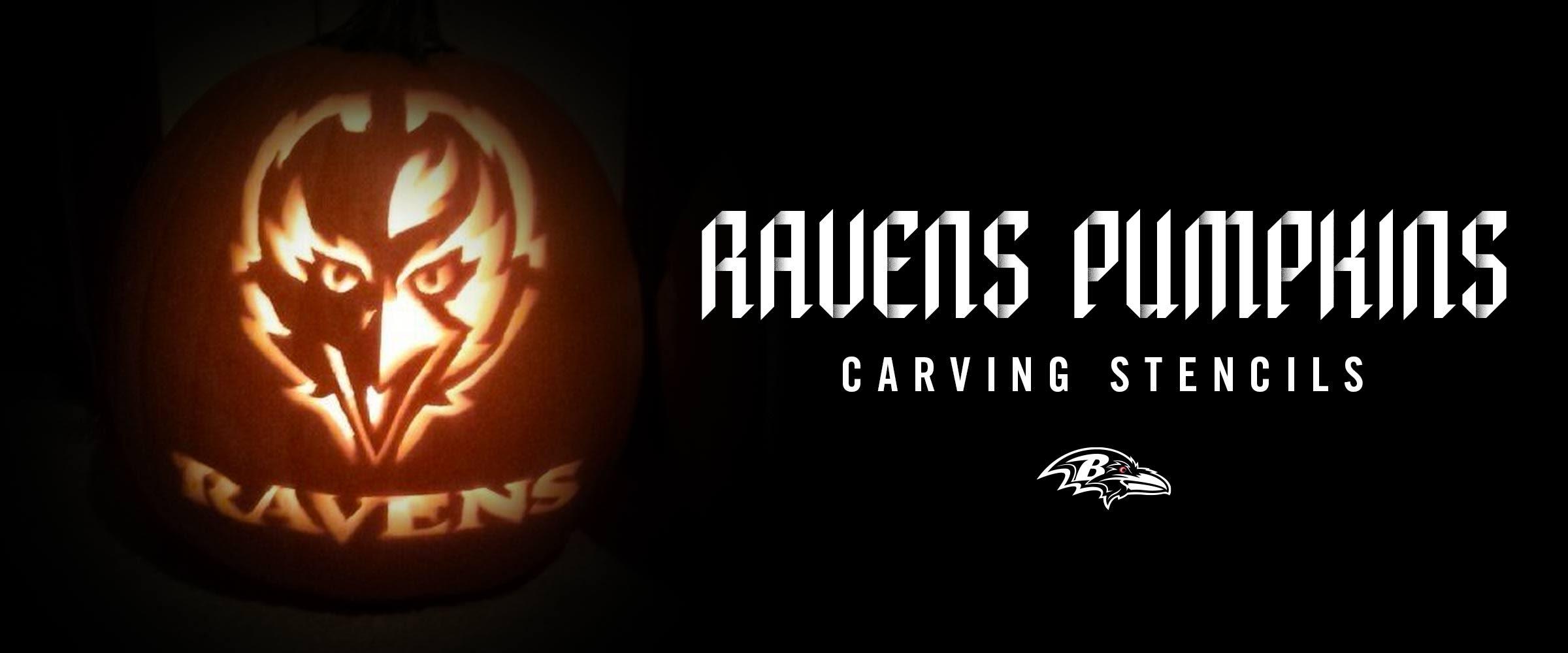 Ravens Pumpkin Carving Stencils
