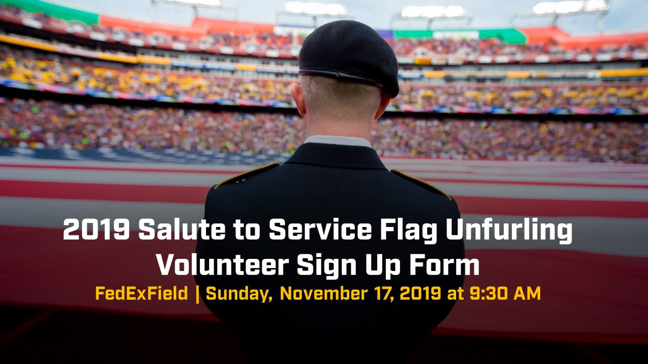 Salute to Service Flag Unfurling Graphic