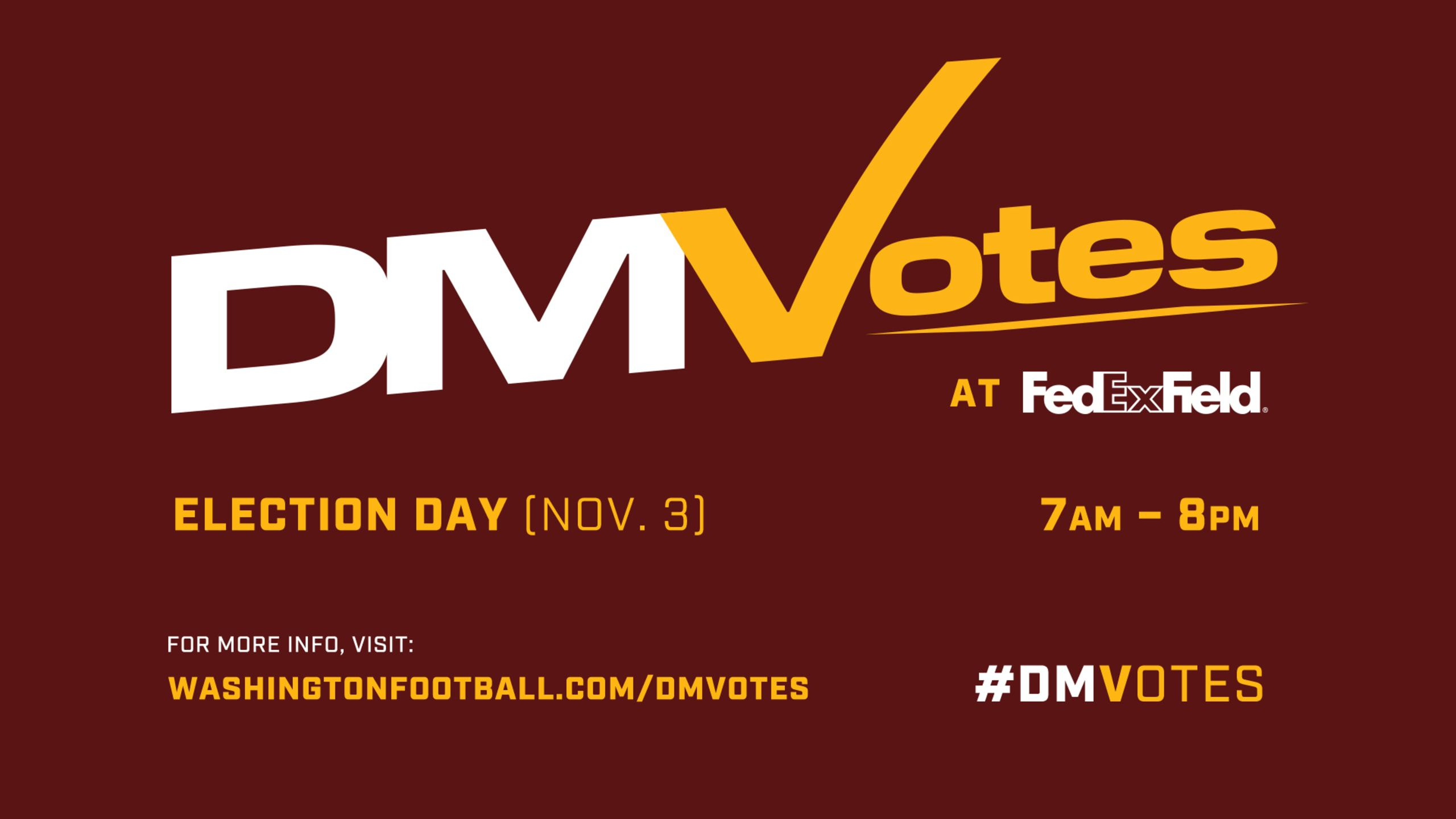 How-To-Guide: Voting At FedExField On Election Day