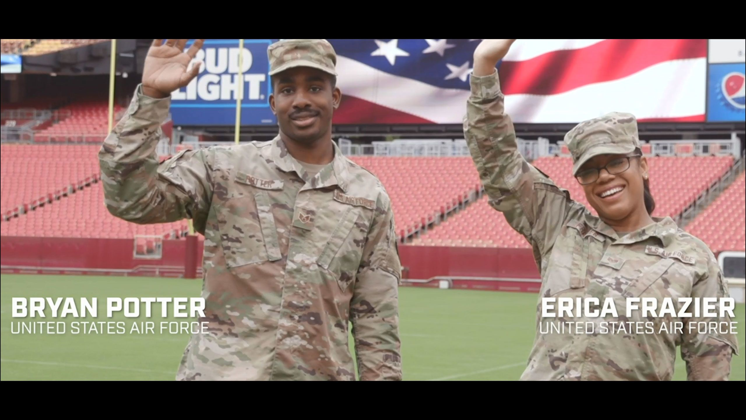 Staff Sergeant's Erica Frazier and Bryan Potter