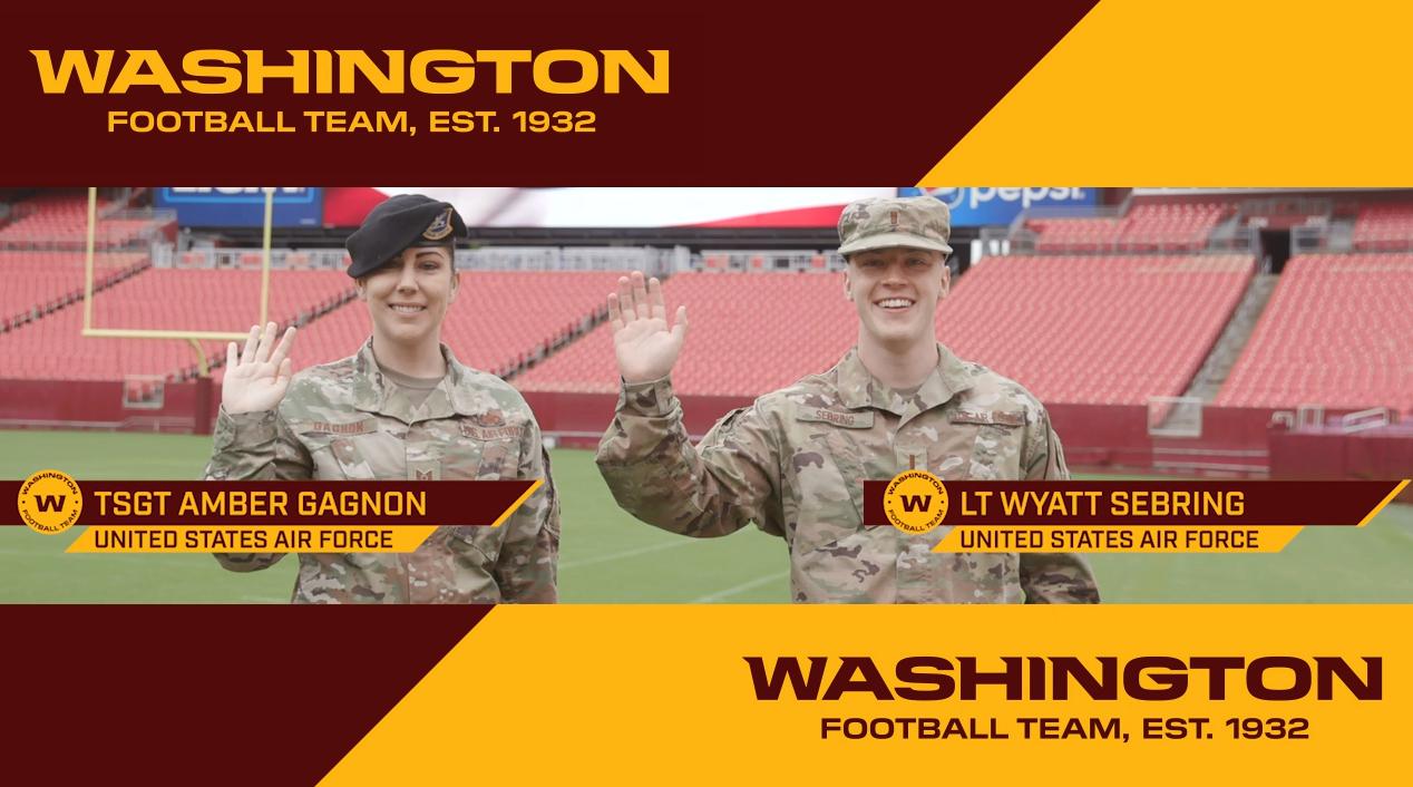 Technical Sergeant Amber Gagnon and Second Lieutenant Wyatt Sebring