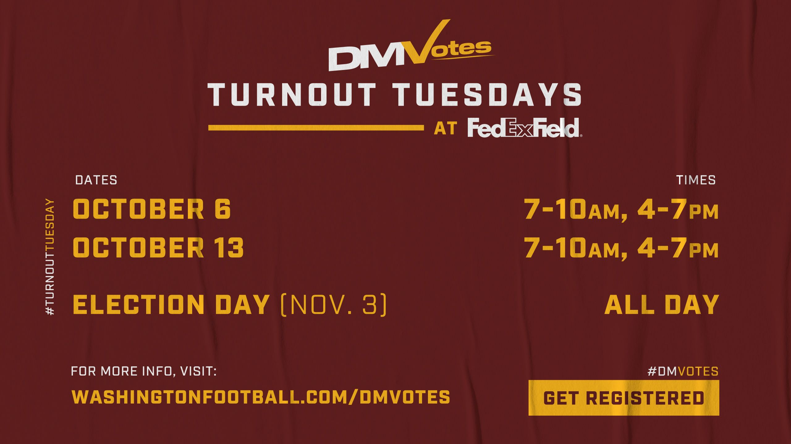 DMVotes Turnout Tuesday
