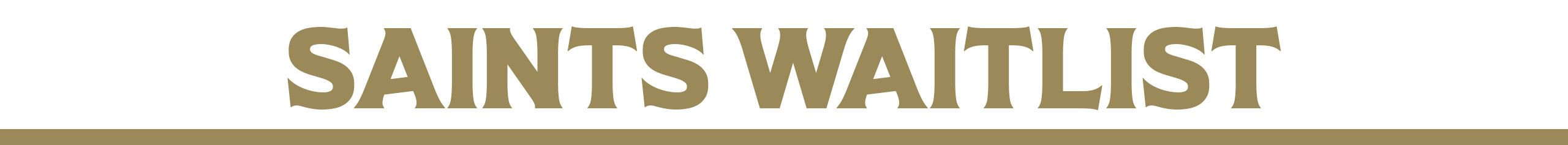 New Orleans Saints Season Tickets Waitlist