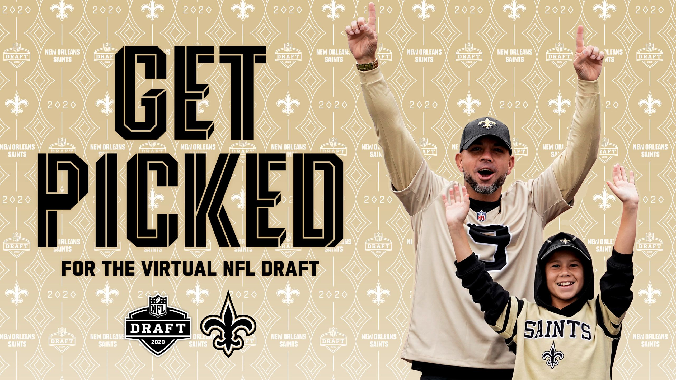 REPRESENT THE SAINTS LIVE AT THE 2020 NFL DRAFT!