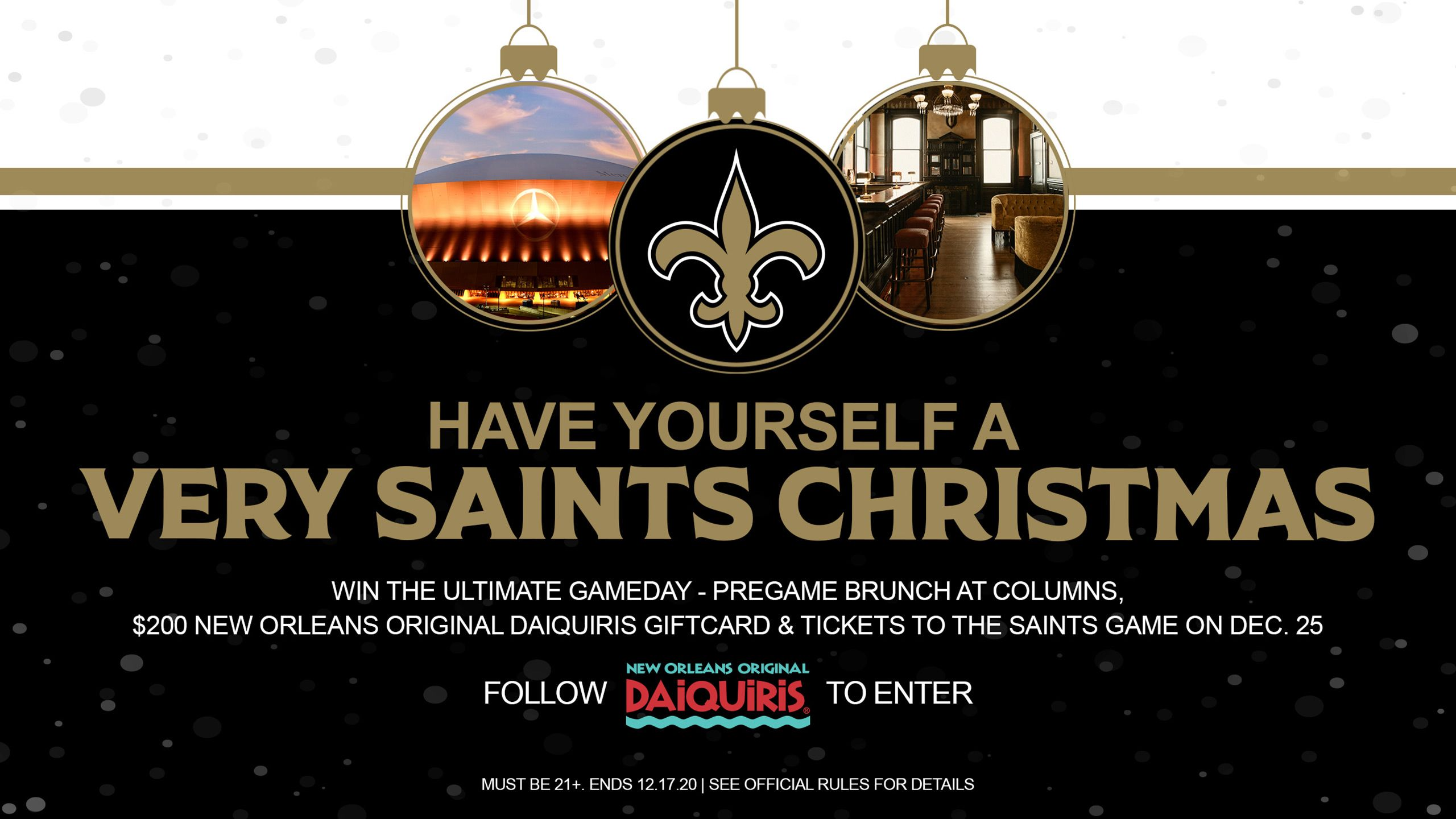 HAVE YOURSELF A VERY SAINTS CHRISTMAS
